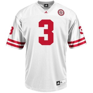Adida Taylor Martinez Nebraska Cornhuskers No.3 - White Football Jersey