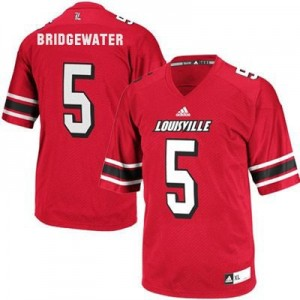 Adidas Teddy Bridgewater Louisville Cardinals No.5 - Red Football Jersey