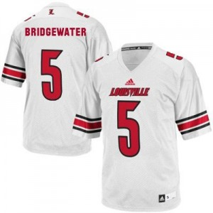 Adidas Teddy Bridgewater Louisville Cardinals No.5 - White Football Jersey