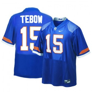 Nike Tim Tebow Florida Gators No.15 - Blue Football Jersey