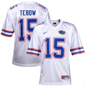 Nike Tim Tebow Florida Gators No.15 - White Football Jersey