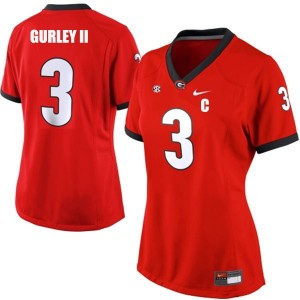 Nike Todd Gurley Georgia Bulldogs No.3 Women - Red Football Jersey