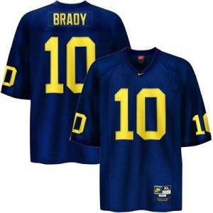 Nike Tom Brady UMich Wolverines No.10 - Navy Blue Football Jersey