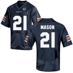 Under Armour Tre Mason Auburn Tigers No.21 - Navy Blue Football Jersey