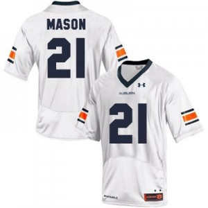 Under Armour Tre Mason Auburn Tigers No.21 - White Football Jersey