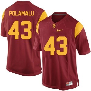 Nike Troy Polamalu USC Trojans No.43 Youth - Red Football Jersey