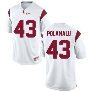Nike Troy Polamalu USC Trojans No.43 Youth - White Football Jersey