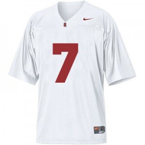 Nike Ty Montgomery Stanford Cardinal No.7 - White Football Jersey