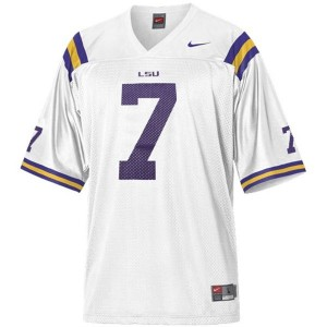 Nike Tyrann Mathieu LSU Tigers No.7 Mesh Youth - White Football Jersey