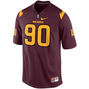 Nike Will Sutton Arizona State Sun Devils No.90 - Red Football Jersey