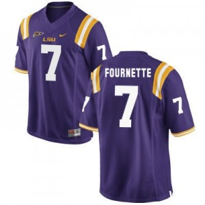 Nike Leonard Fournette LSU Tigers No.7 - Purple Football Jersey