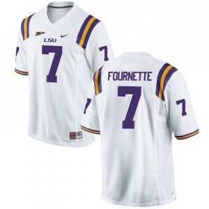 Nike Leonard Fournette LSU Tigers No.7 - White Football Jersey