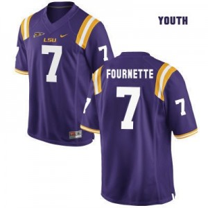 Nike Leonard Fournette LSU Tigers No.7 Youth - Purple Football Jersey