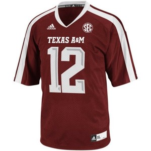 Adidas 12th Man Texas A&M Aggies No.12 Youth - Maroon Red Football Jersey