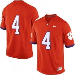 Nike Clemson No.4 College - Orange Football Jersey