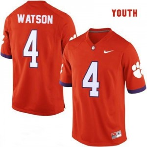 Nike Deshaun Watson Clemson No.4 College - Orange - Youth Football Jersey