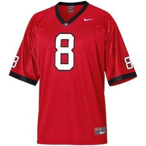 Nike A.J. Green Georgia Bulldogs No.8 - Red Football Jersey