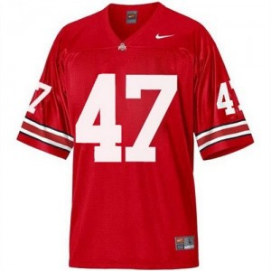 Nike A.J. Hawk Ohio State Buckeyes No.47 - Scarlet Red Football Jersey