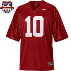Nike A.J. McCarron Alabama Crimson Tide No.10 BCS Bowl Patch - Crimson Red Football Jersey