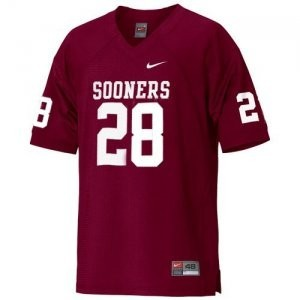 Nike Adrian Peterson Oklahoma Sooners No.28 Youth - Crimson Red Football Jersey