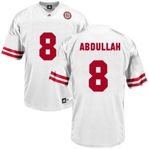 Adida Ameer Abdullah Nebraska Cornhuskers No.8 Youth - White Football Jersey