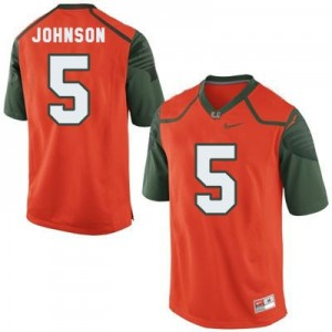 Nike Andre Johnson Miami Hurricanes No.5 - Orange Football Jersey