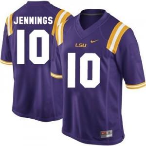 Nike Anthony Jennings LSU Tigers No.10 - Purple Football Jersey