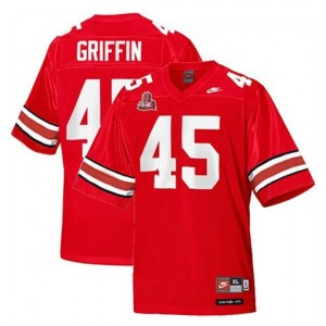Nike Archie Griffin Ohio State Buckeyes No.45 - Scarlet Red Football Jersey