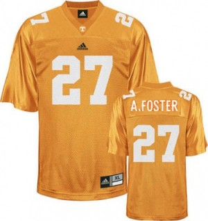 Adidas Arian Foster Tennessee Volunteers No.27 Youth - Orange Football Jersey