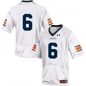 Under Armour Auburn Tigers No.6 College - White Football Jersey
