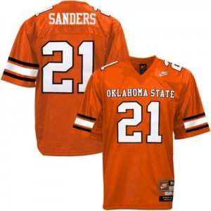 Nike Barry Sanders Oklahoma State Cowboys No.21 - Orange Football Jersey