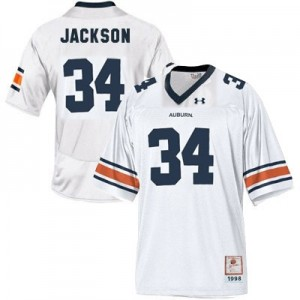 Under Armour Bo Jackson Auburn Tigers No.34 Youth - White Football Jersey