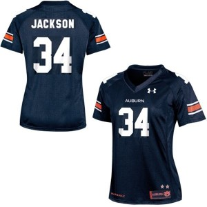 Under Armour Bo Jackson Auburn Tigers No.34 Women - Navy Blue Football Jersey