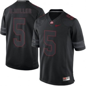 Nike Braxton Miller Ohio State Buckeyes No.5 Lights Out - Black Football Jersey