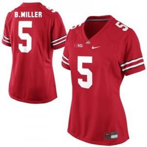 Nike Braxton Miller Ohio State No.5 Women - Scarlet Red Football Jersey