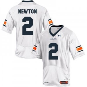 Under Armour Cam Newton Auburn Tigers No.2 Youth - White Football Jersey