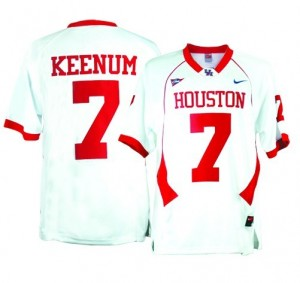 Nike Case Keenum Houston Cougars No.7 - White Football Jersey