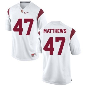 Nike Clay Matthews USC Trojans No.47 - White Football Jersey