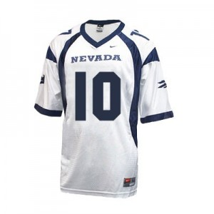 Nike Colin Kaepernick Nevada Wolf Pack No.10 - White Football Jersey