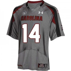 Under Armour Connor Shaw South Carolina Gamecocks No.14 Youth - Gray Football Jersey