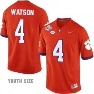 Nike Deshaun Watson No.4 Clemson 2016 Playoff - Orange - Youth Football Jersey