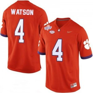 Nike Deshaun Watson No.4 Clemson Diamond Quest - Orange Football Jersey