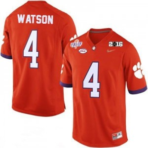 Nike Deshaun Watson No.4 Clemson National Championship - Orange Football Jersey