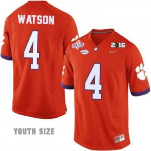 Nike Deshaun Watson No.4 Clemson National Championship - Orange - Youth Football Jersey