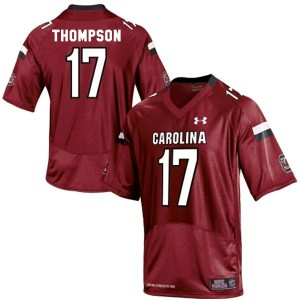 Under Armour Dylan Thompson South Carolina Gamecocks No.17 Youth - Red Football Jersey
