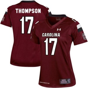 Under Armour Dylan Thompson South Carolina Gamecocks No.17 Women - Red Football Jersey