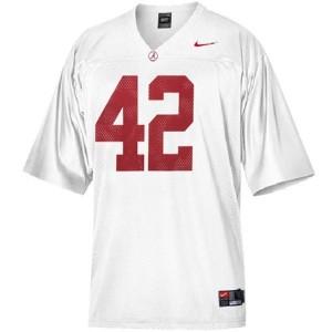 Nike Eddie Lacy Alabama Crimson Tide No.42 - White Football Jersey
