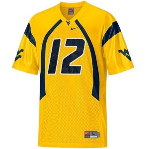 Nike Geno Smith West Virginia Mountaineers No.12 - Gold Football Jersey
