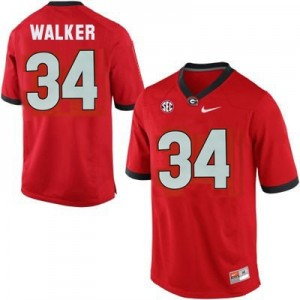 Nike Herschel Walker Georgia Bulldogs No.34 - Red Football Jersey