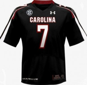 Under Armour Jadeveon Clowney South Carolina Gamecocks No.7 - Black Football Jersey